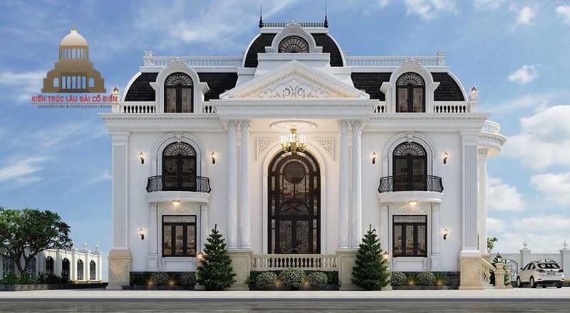 Thiết kế biệt thự tân cổ điển 2 tầng Châu Âu 1