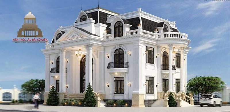 Thiết kế biệt thự tân cổ điển 2 tầng Châu Âu 2