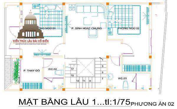 Thiết kế biệt thự tân cổ điển 2 tầng Châu Âu 5