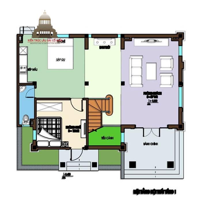 Biệt thự mini tân cổ điển 3 tầng 5
