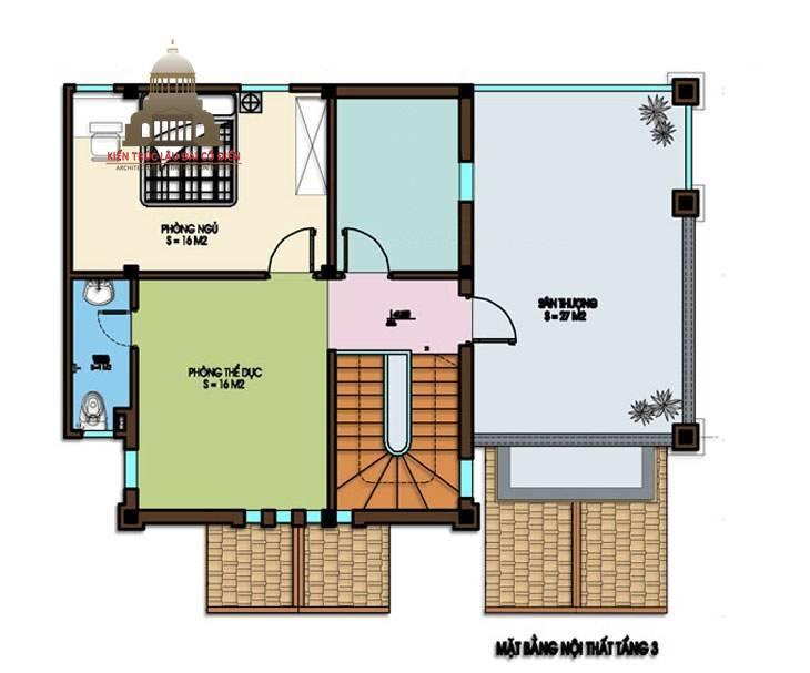 Biệt thự mini tân cổ điển 3 tầng 7