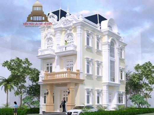 Thiết kế biệt thự phố tân cổ điển 3 phòng ngủ 1