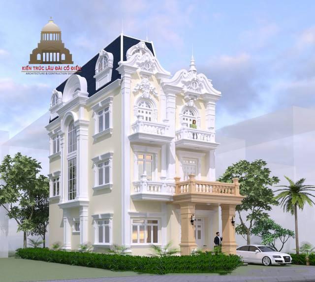 Thiết kế biệt thự phố tân cổ điển 3 phòng ngủ 3