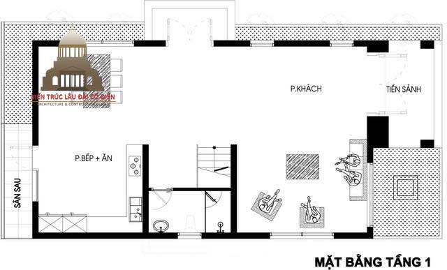 Thiết kế biệt thự phố tân cổ điển 3 phòng ngủ 5