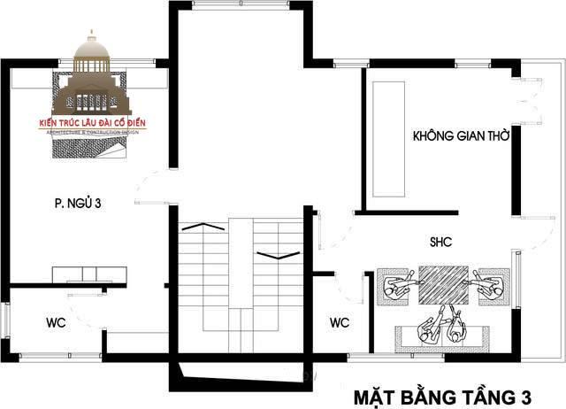 Thiết kế biệt thự phố tân cổ điển 3 phòng ngủ 7