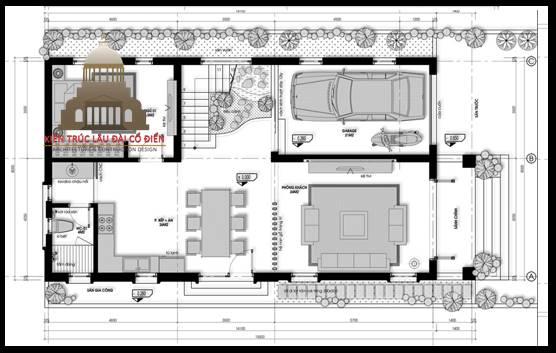 Biệt thự tân cổ điển 2 tầng 3 phòng ngủ 4