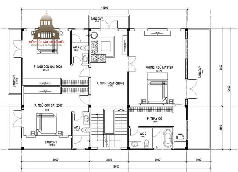 Biệt thự tân cổ điển 3 tầng 5 phòng ngủ đẹp 5