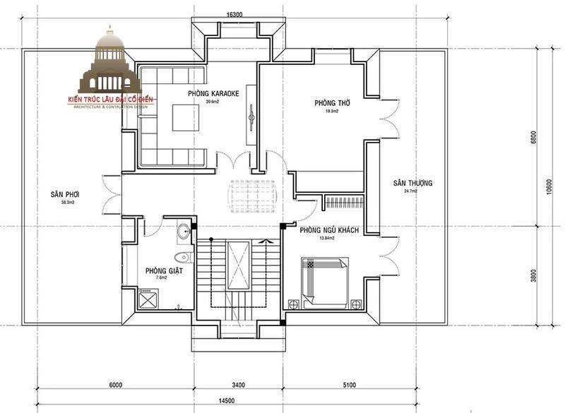 Biệt thự tân cổ điển 3 tầng 5 phòng ngủ đẹp 6
