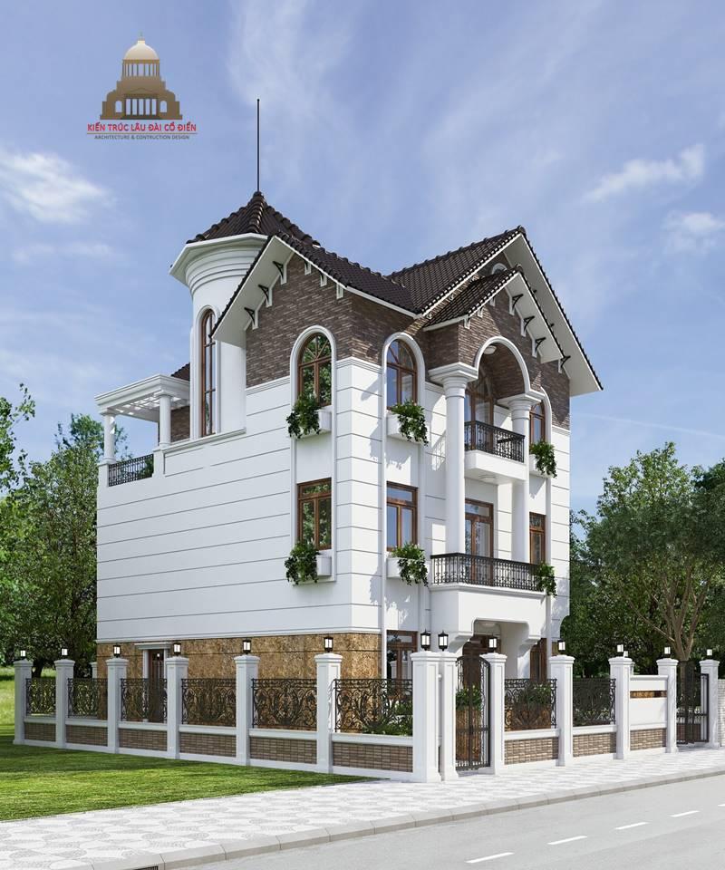 Biệt thự tân cổ điển 3 tầng mái nghiêng 2