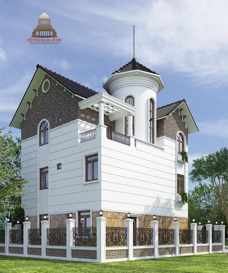 Biệt thự tân cổ điển 3 tầng mái nghiêng 4