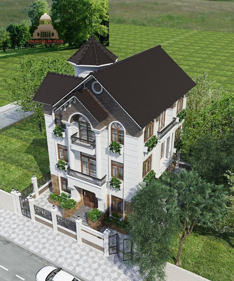 Biệt thự tân cổ điển 3 tầng mái nghiêng 5