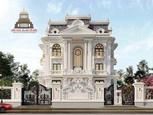 Biệt thự tân cổ điển đẹp 3 tầng tại Vĩnh Long 1