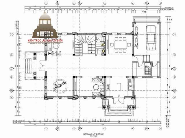 Biệt thự tân cổ điển kiểu Pháp 3 tầng 3