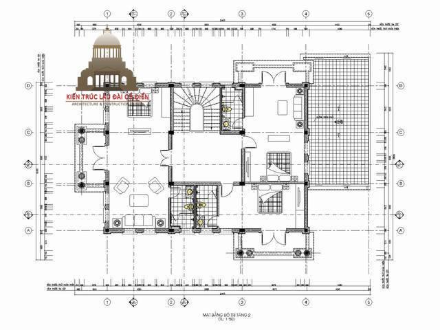 Biệt thự tân cổ điển kiểu Pháp 3 tầng 4