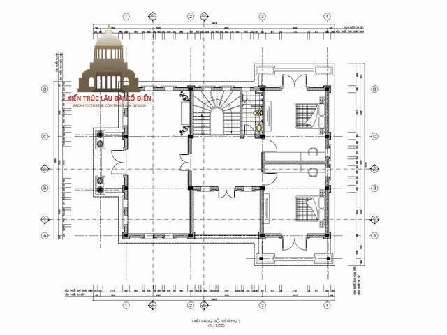 Biệt thự tân cổ điển kiểu Pháp 3 tầng 5
