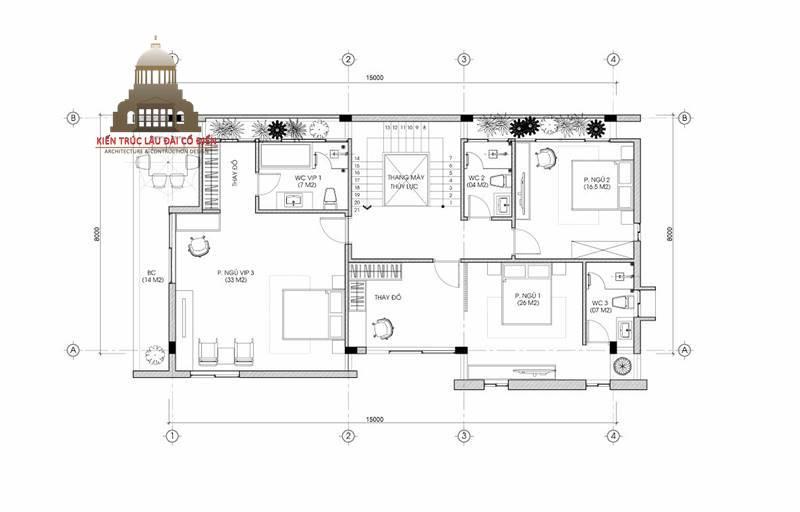 biệt thự tân cổ điển mini 5 tầng 6