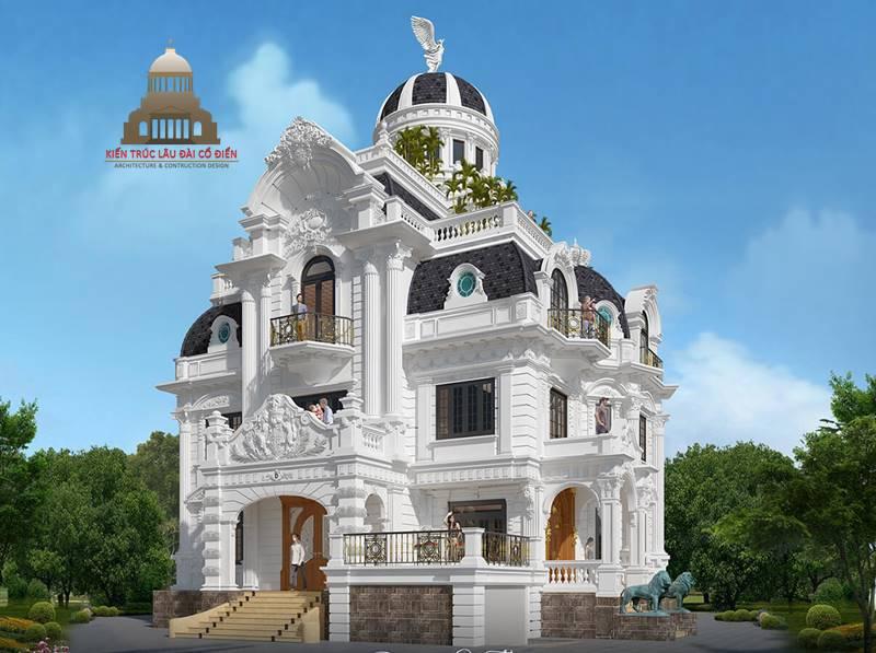 lâu đài châu âu cổ điển 3 tầng 2