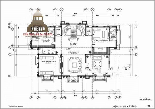 lâu đài châu âu cổ điển 3 tầng 8