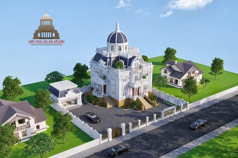 Lâu đài cổ điển Pháp 3 tầng 1