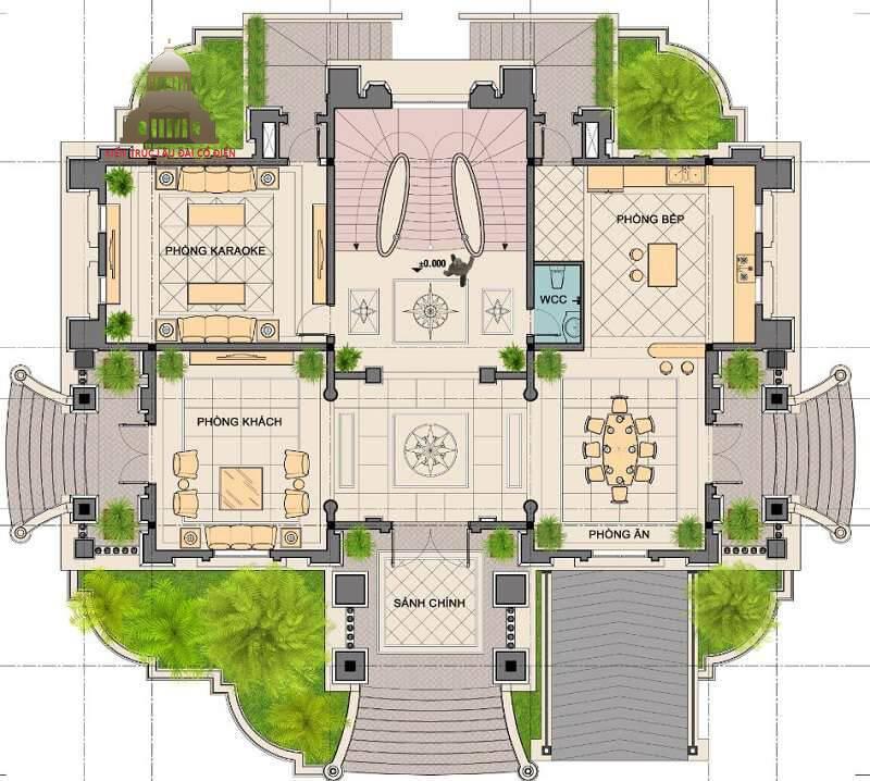 Lâu đài cổ điển Pháp 3 tầng 5