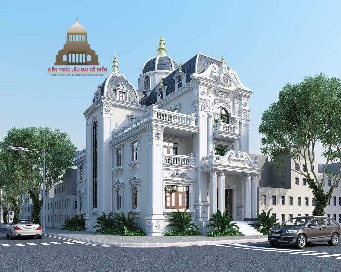 Thiết kế biệt thự mini 3 tầng tân cổ điển 2
