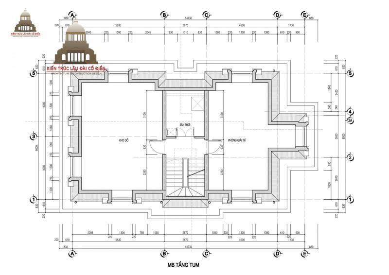 Thiết kế biệt thự mini 3 tầng tân cổ điển 6