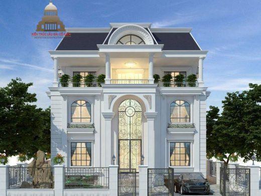 Thiết kế biệt thự tân cổ điển 3 tầng sang trọng 1