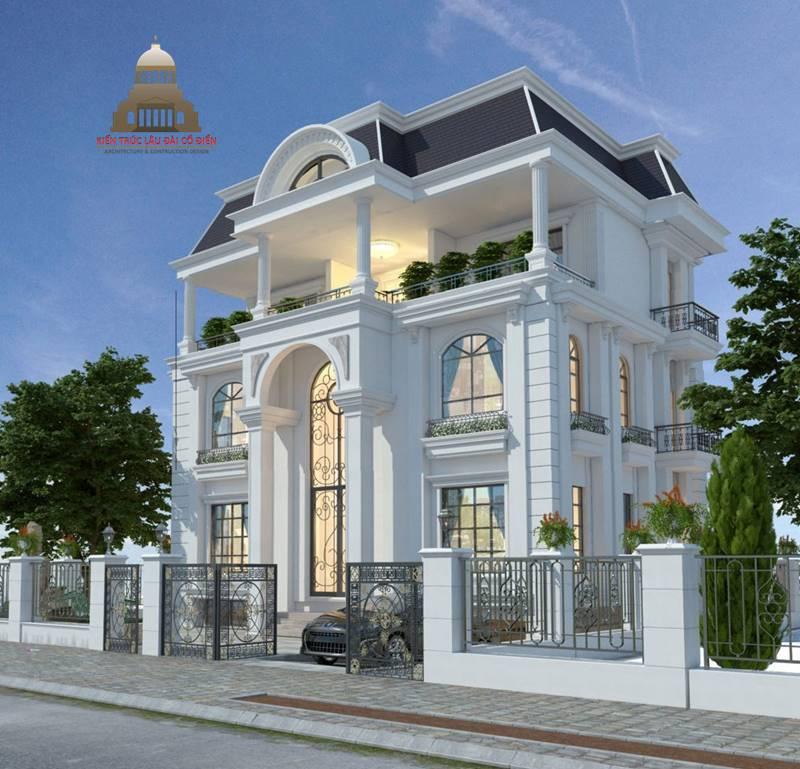 Thiết kế biệt thự tân cổ điển 3 tầng sang trọng 2