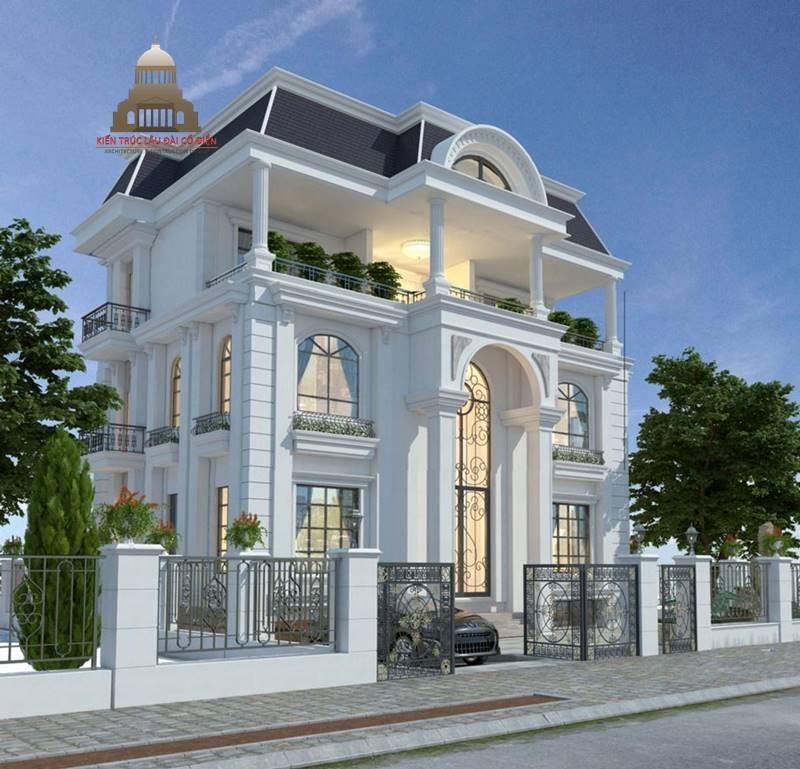 Thiết kế biệt thự tân cổ điển 3 tầng sang trọng 3