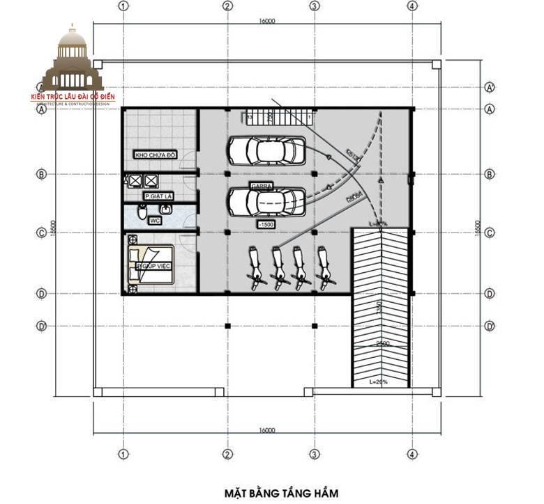 Thiết kế biệt thự tân cổ điển 3 tầng sang trọng 4