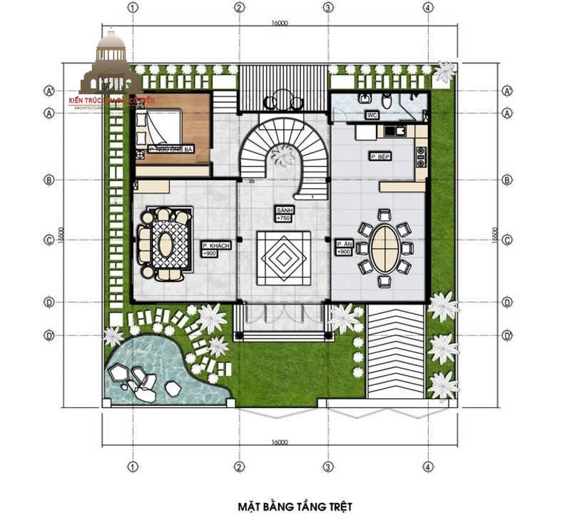 Thiết kế biệt thự tân cổ điển 3 tầng sang trọng 5