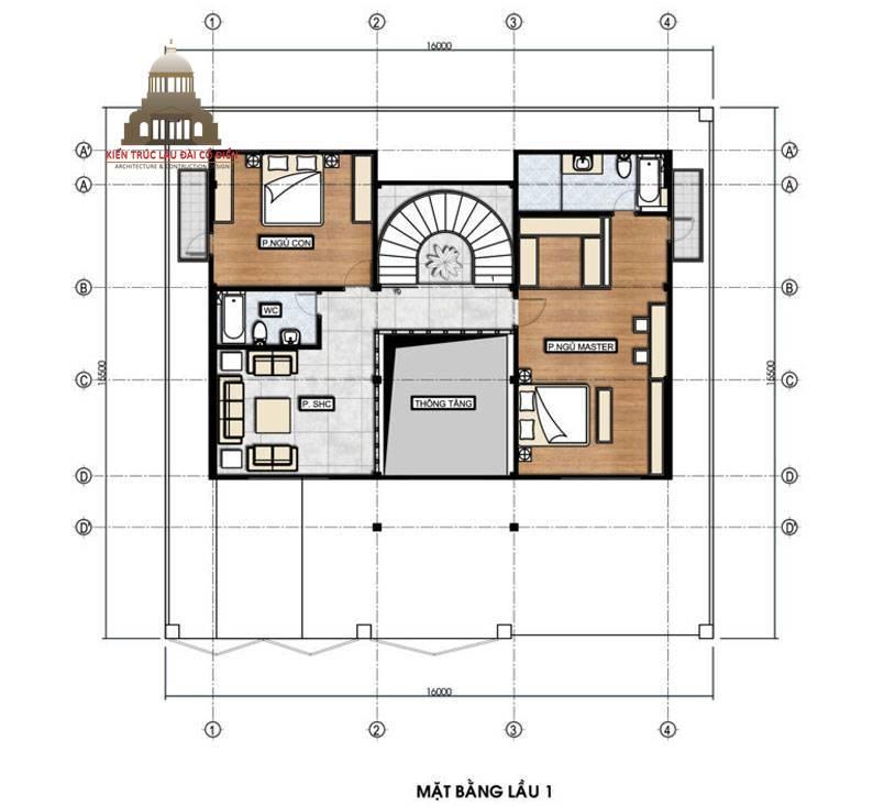 Thiết kế biệt thự tân cổ điển 3 tầng sang trọng 6