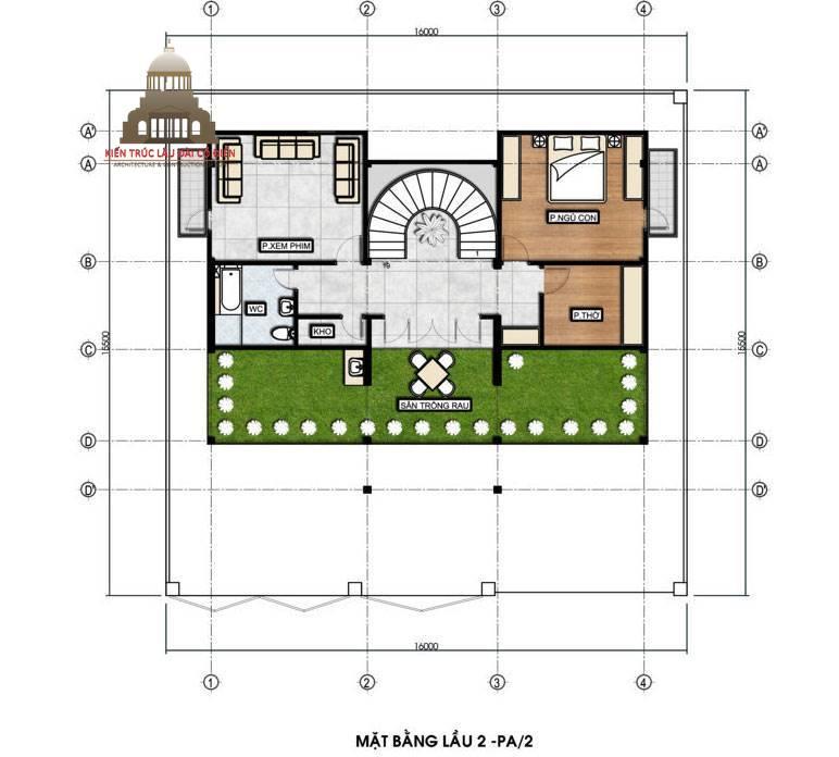 Thiết kế biệt thự tân cổ điển 3 tầng sang trọng 7
