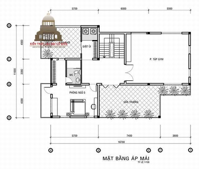 Thiết kế biệt thự tân cổ điển Pháp 3 tầng 6