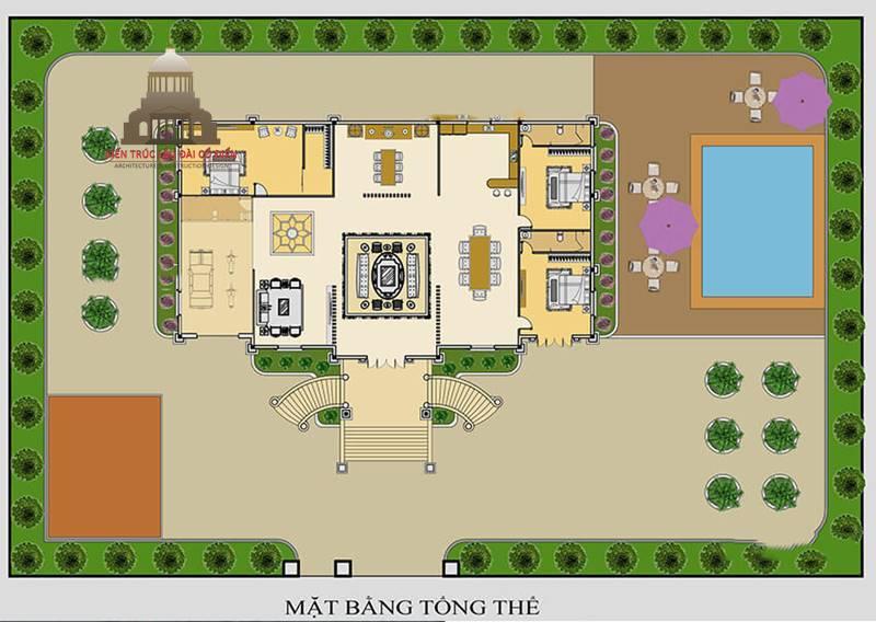 Lâu đài Pháp 1 tầng cổ điển 6