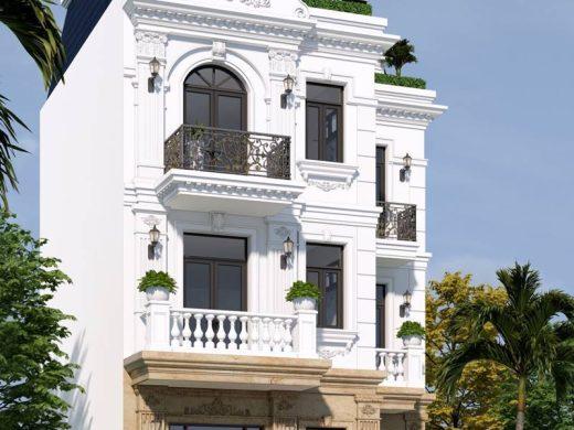 Biệt thự 3 tầng tân cổ điển kiểu Pháp 1