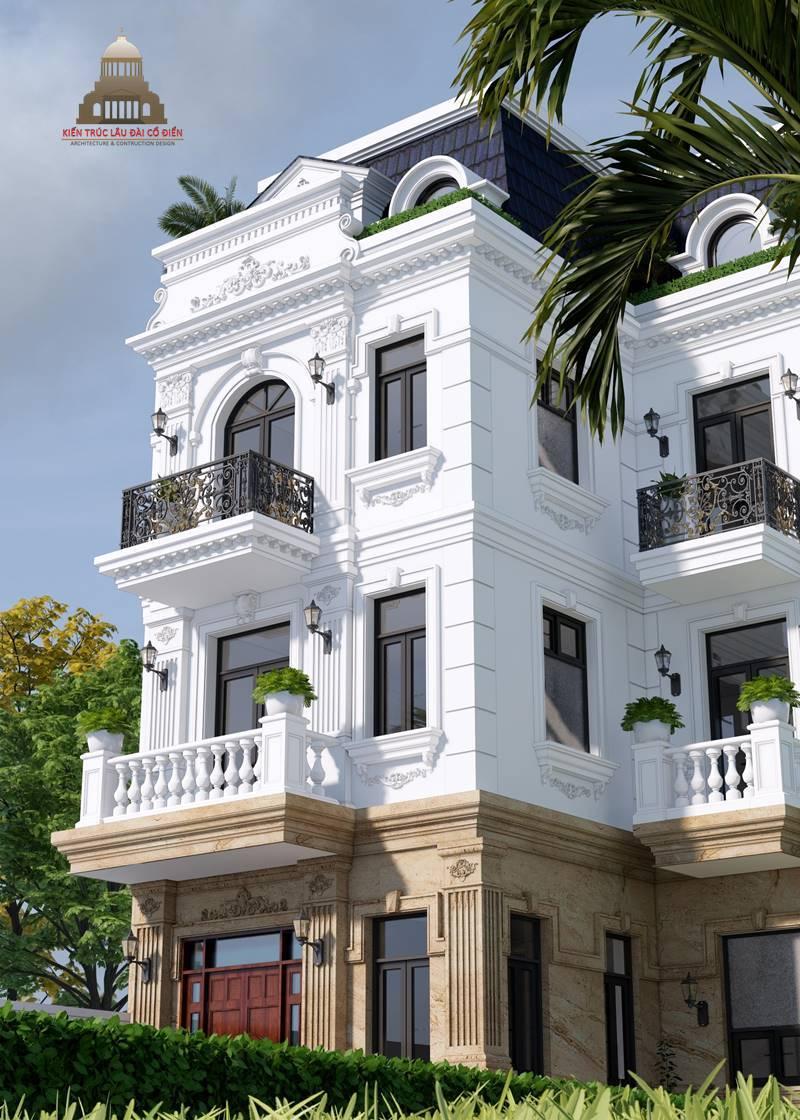 Biệt thự 3 tầng tân cổ điển kiểu Pháp 2