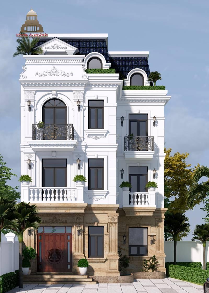 Biệt thự 3 tầng tân cổ điển kiểu Pháp 3