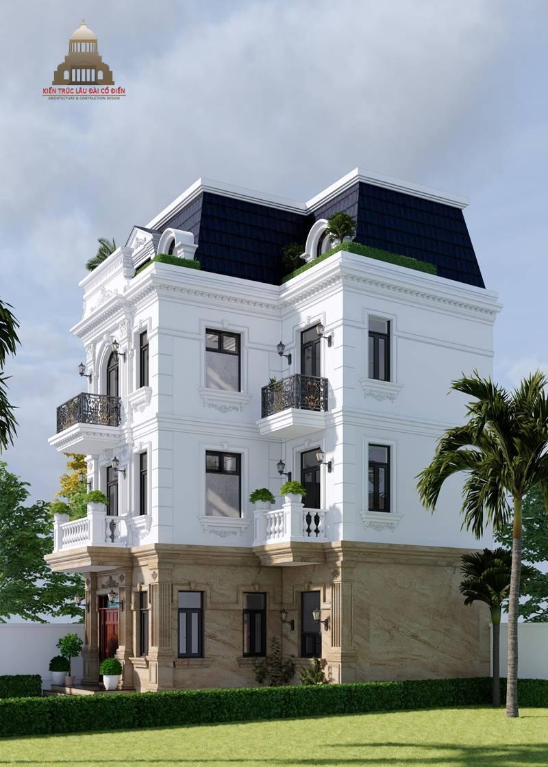 Biệt thự 3 tầng tân cổ điển kiểu Pháp 5