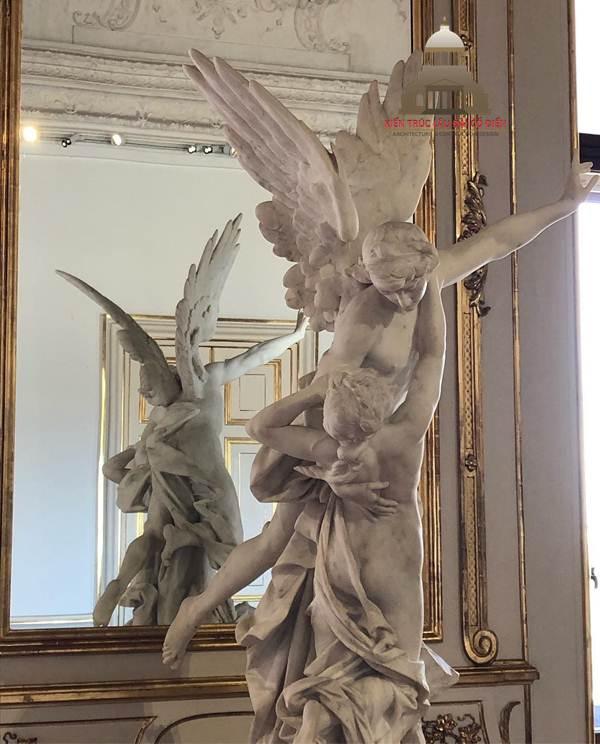Mẫu điêu khắc tượng thiên thần có cánh 3